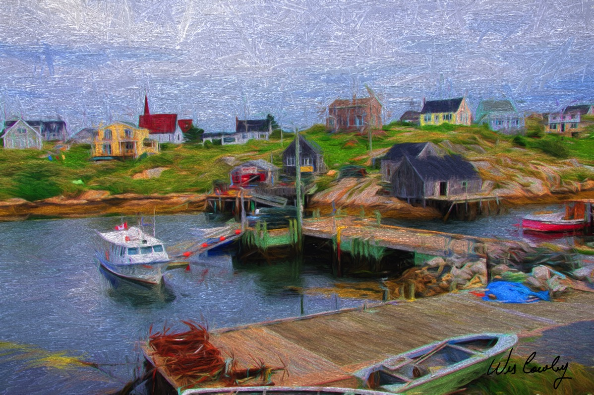 Peggy s cove 1 palette and knife signed