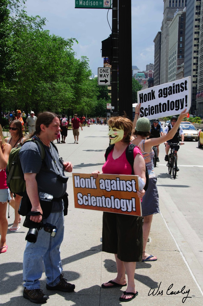 Scientology protest signed