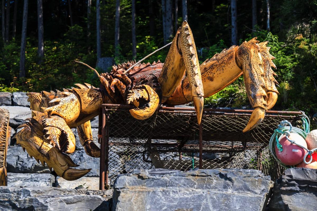 Giant crab wrangell