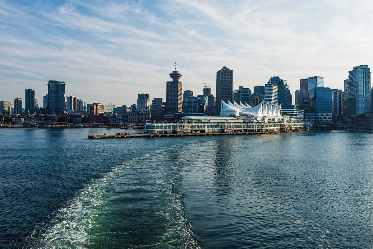 Leaving vancouver cruise terminal