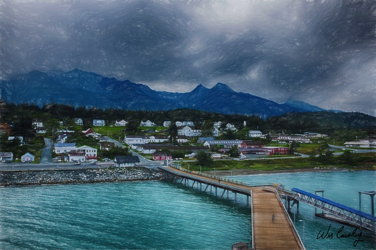 Haines ak color pencil 67 signed