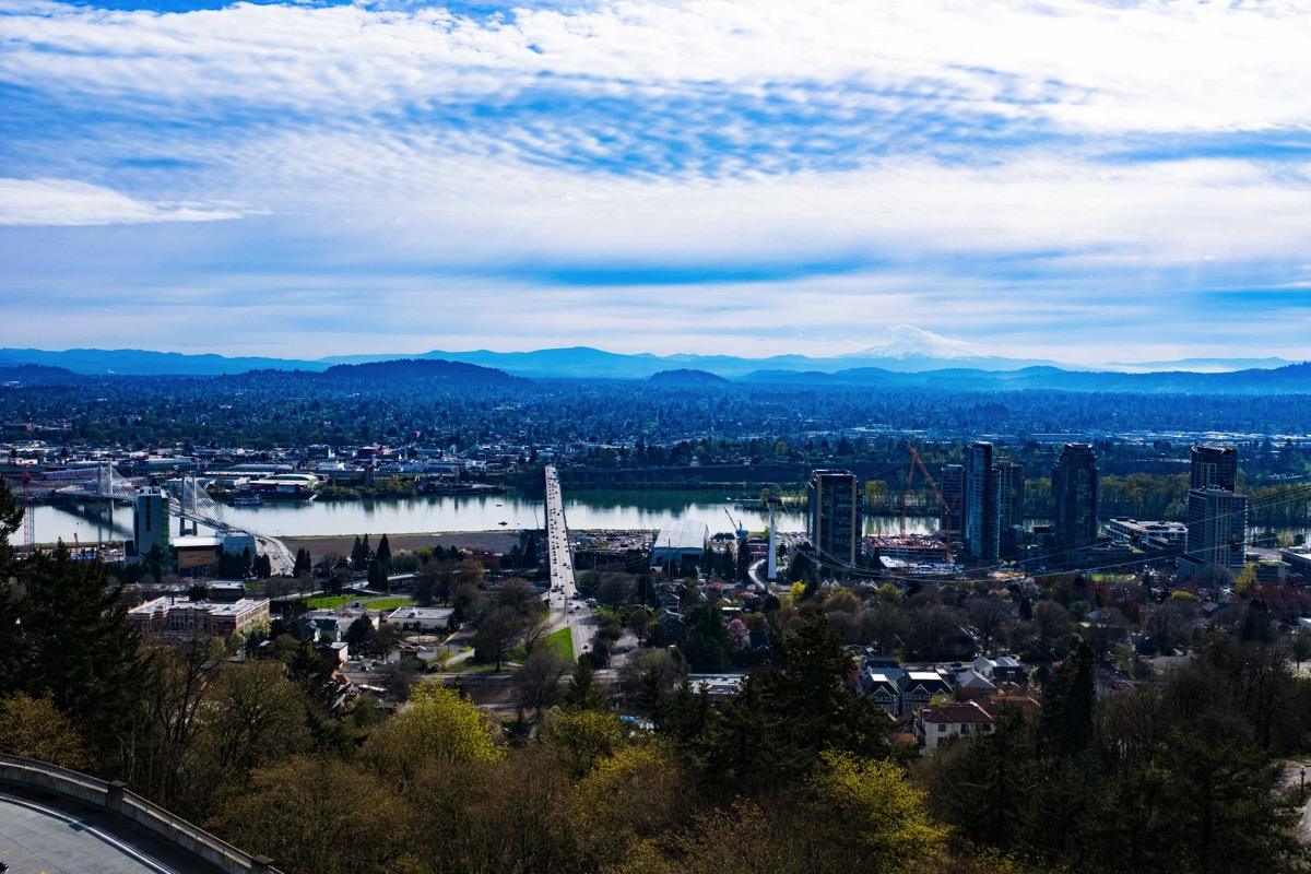 Looking down from OHSU 2
