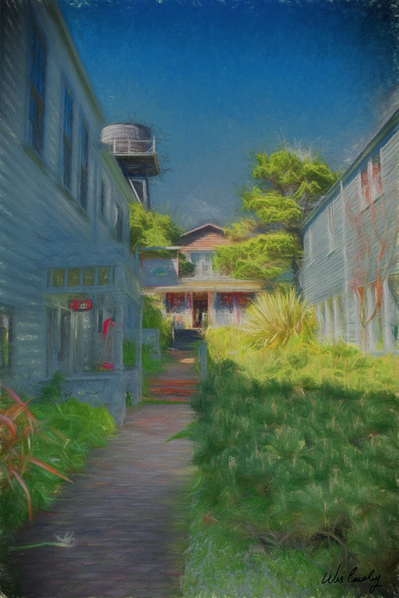 Mendocino alley impression signed