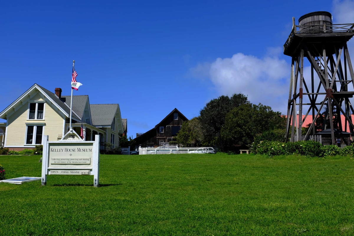 Museum and water tower Mendocino