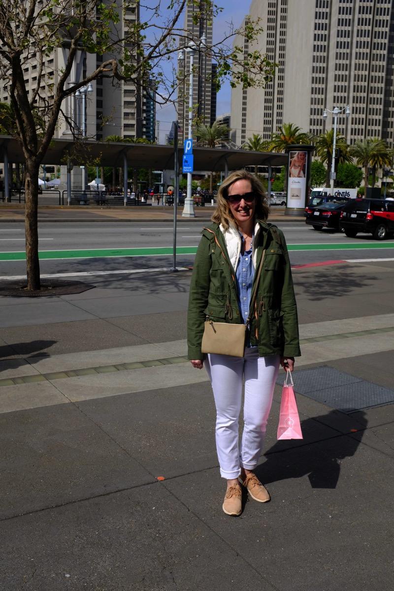Caroline at ferry bldg