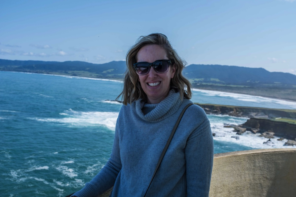 Caroline on lighthouse