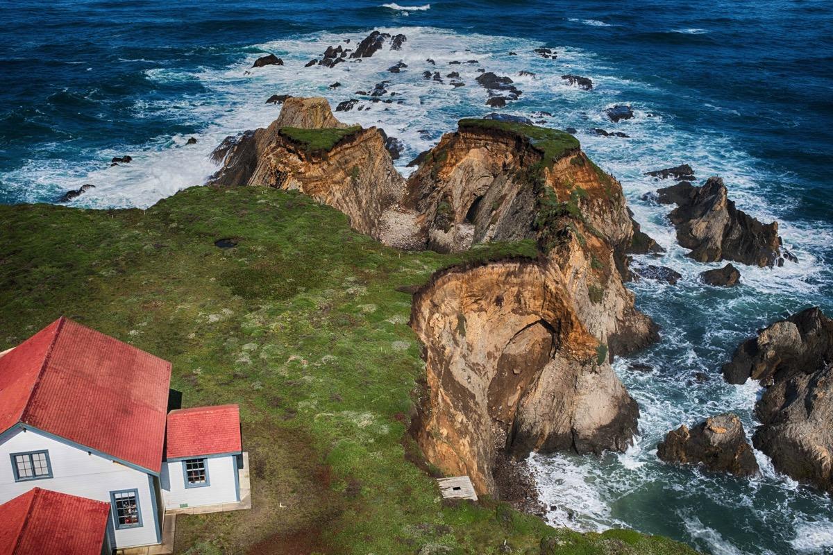 Califofnia coast from lighthouse