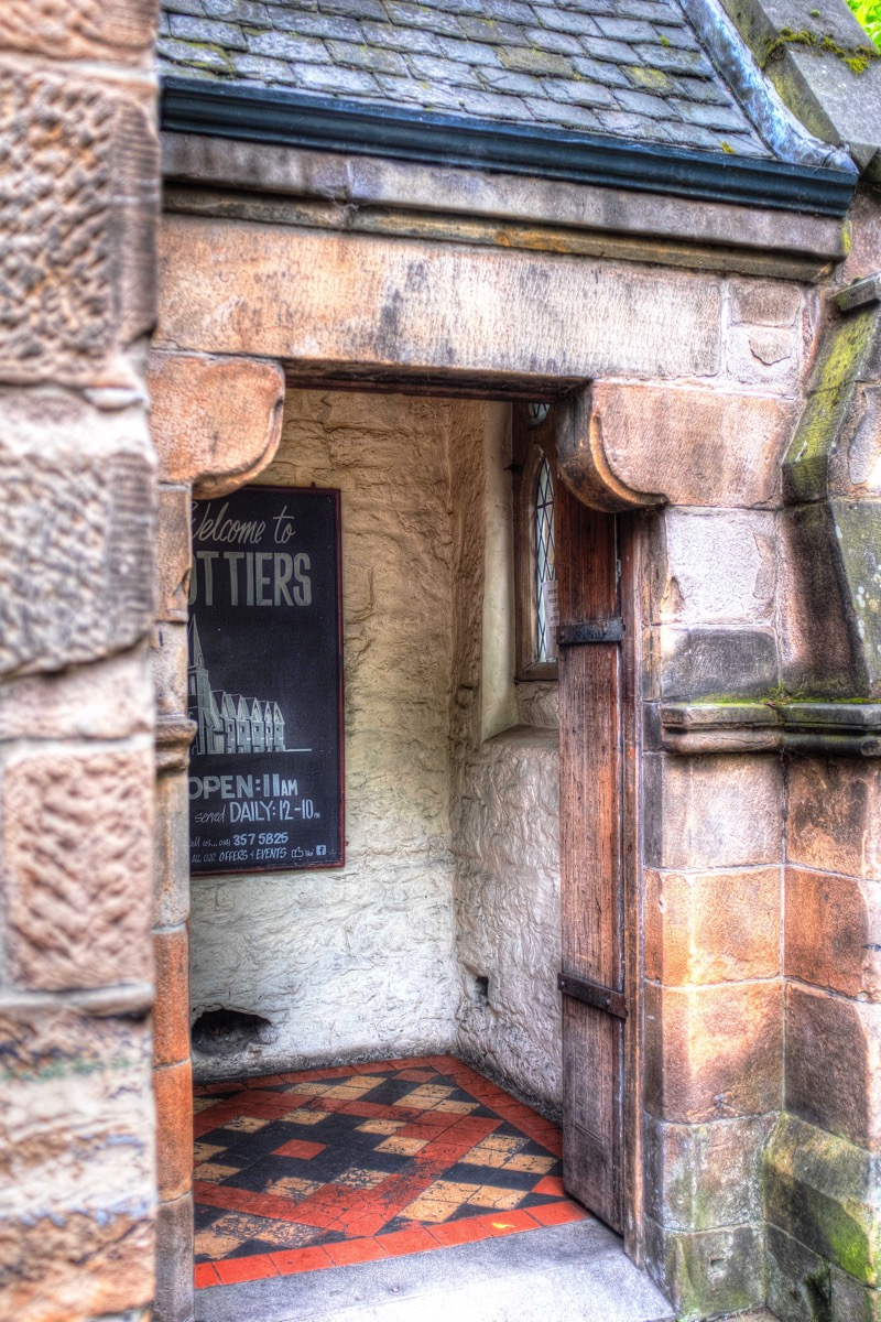 Entrance to Cottiers Restaurant