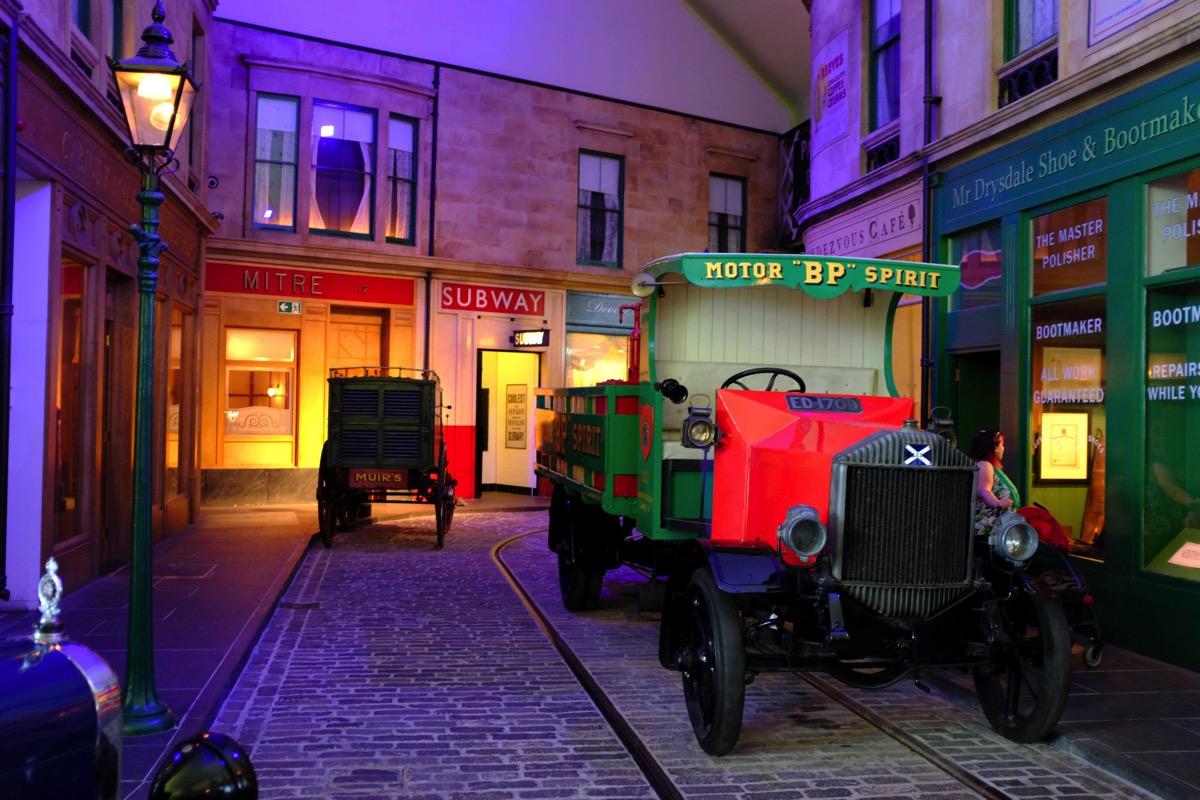 Old street scene riverside museum