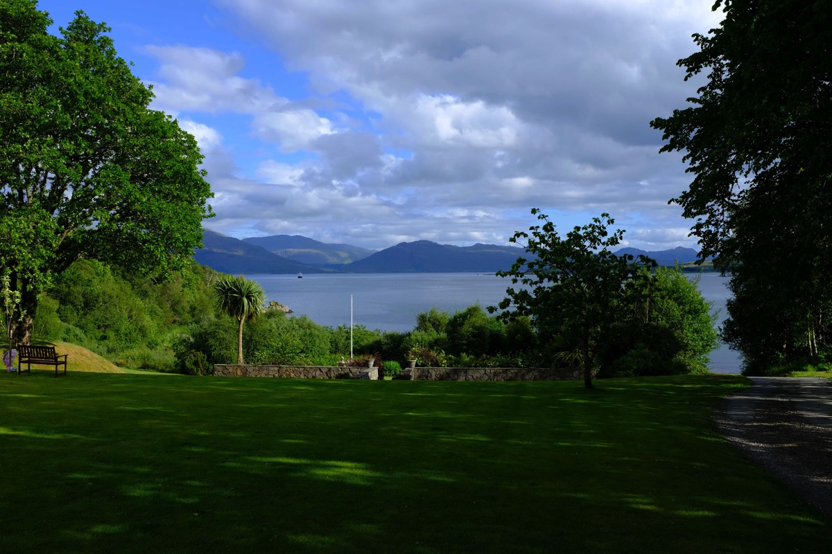 View from the kinloch lodge
