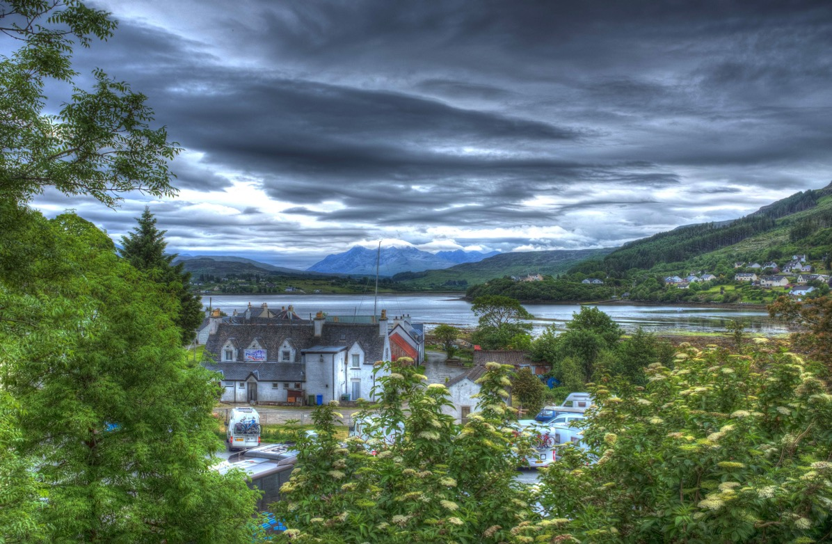 Looking down on Portree