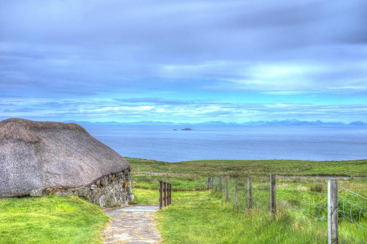 Skye museum hous and north sea