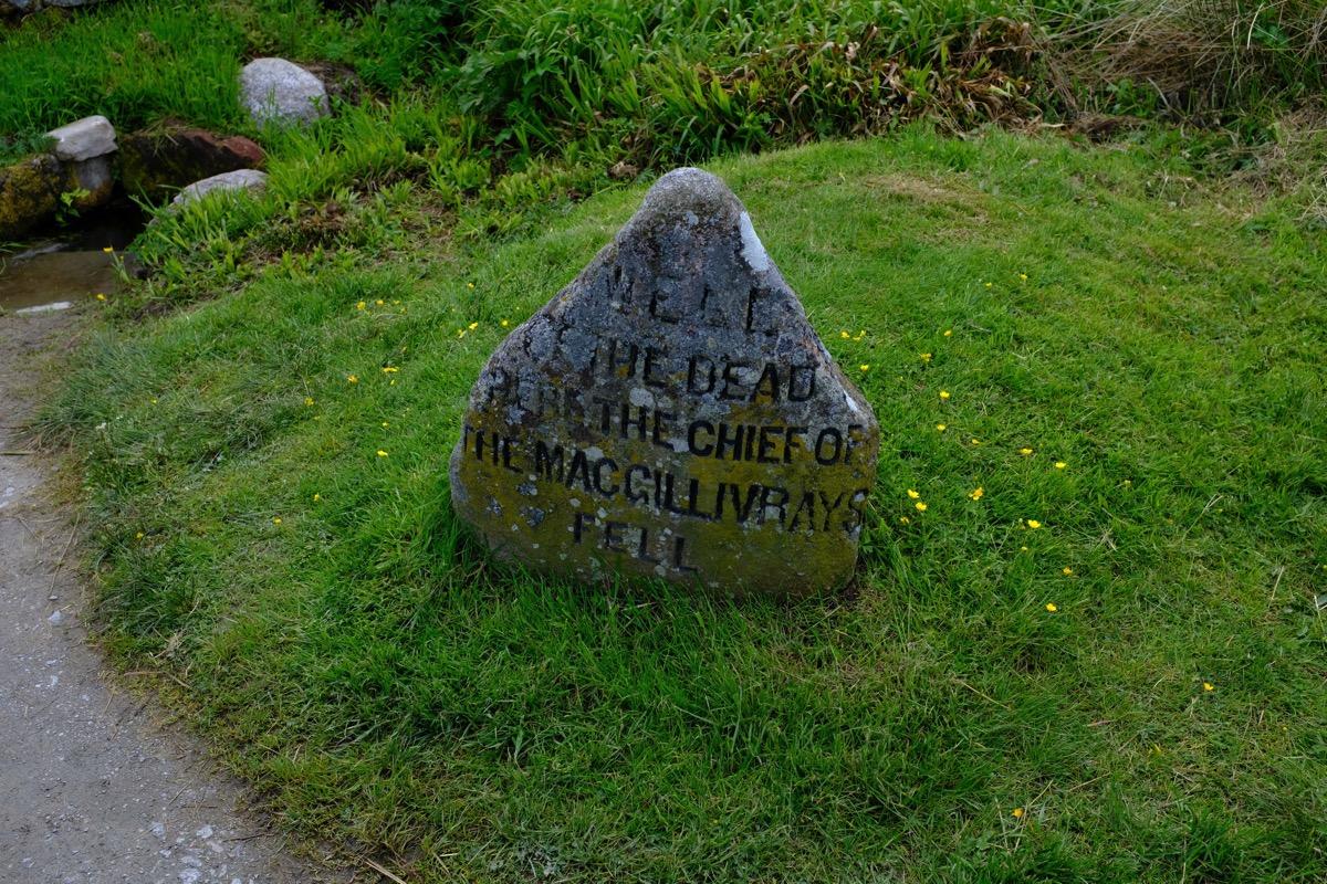 Culloden mcgillivary headstone