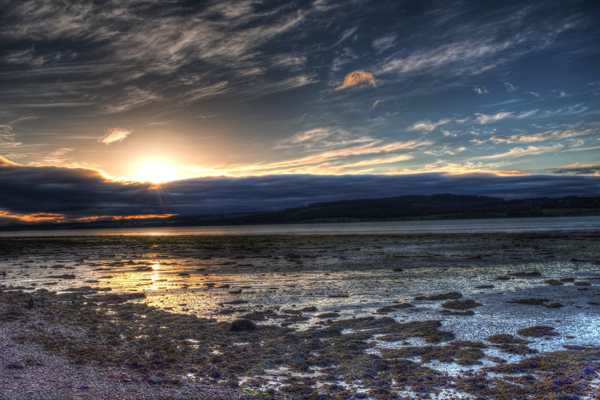 Sunset over beauly firth