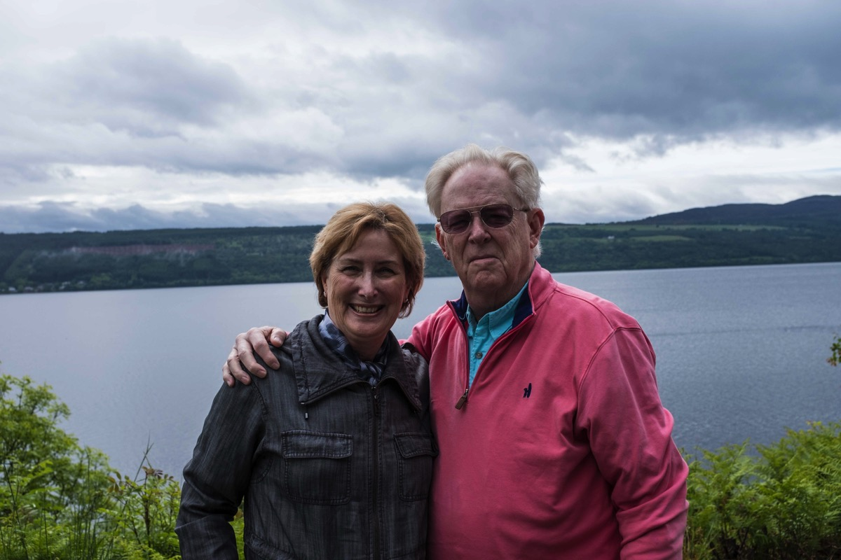 Wes and gina at loch ness