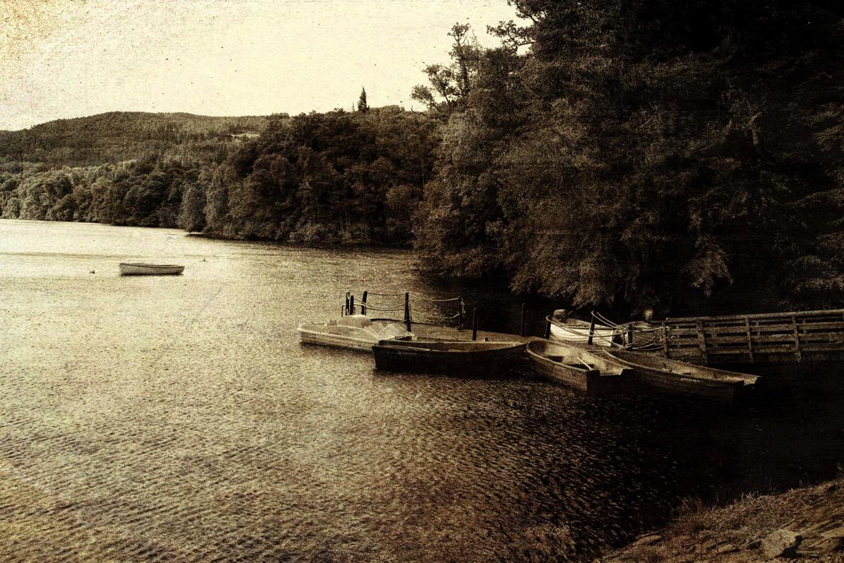Boats on loch tummel