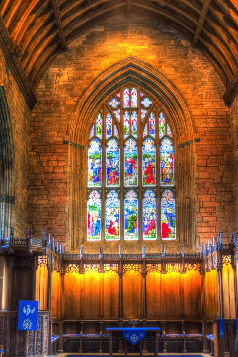 Inside dunkeld chapel