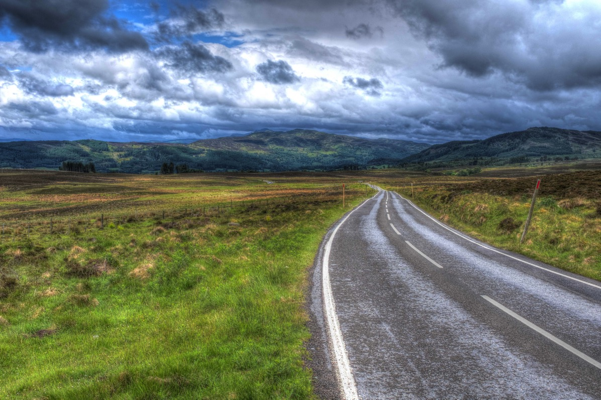 Perthshire the road we traveled