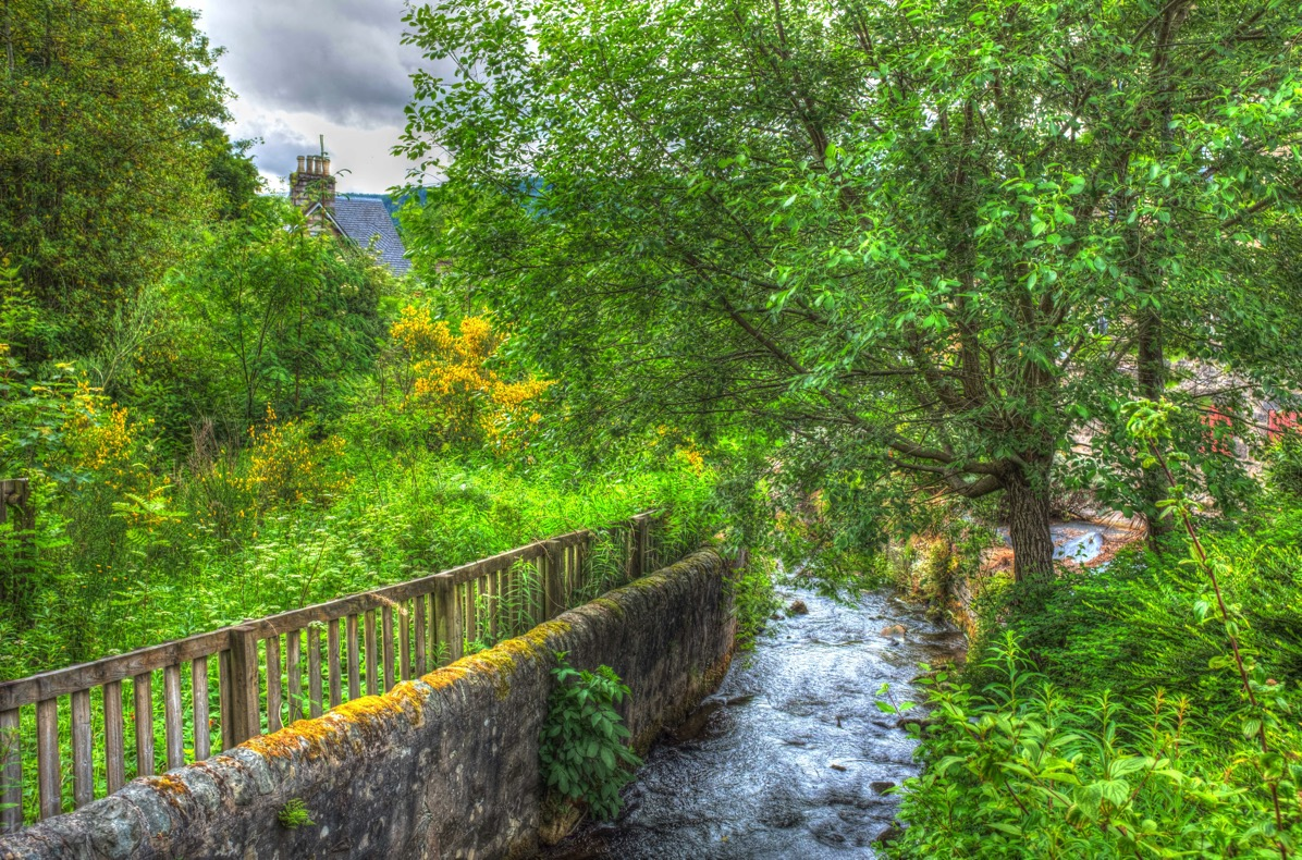 Pitlochry mill stream 1