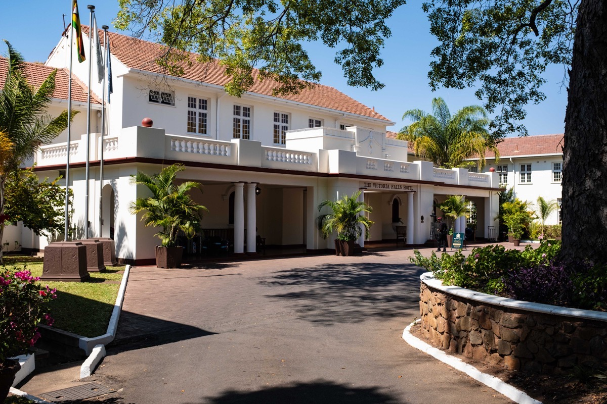 Victoria Falls Hotel entrance