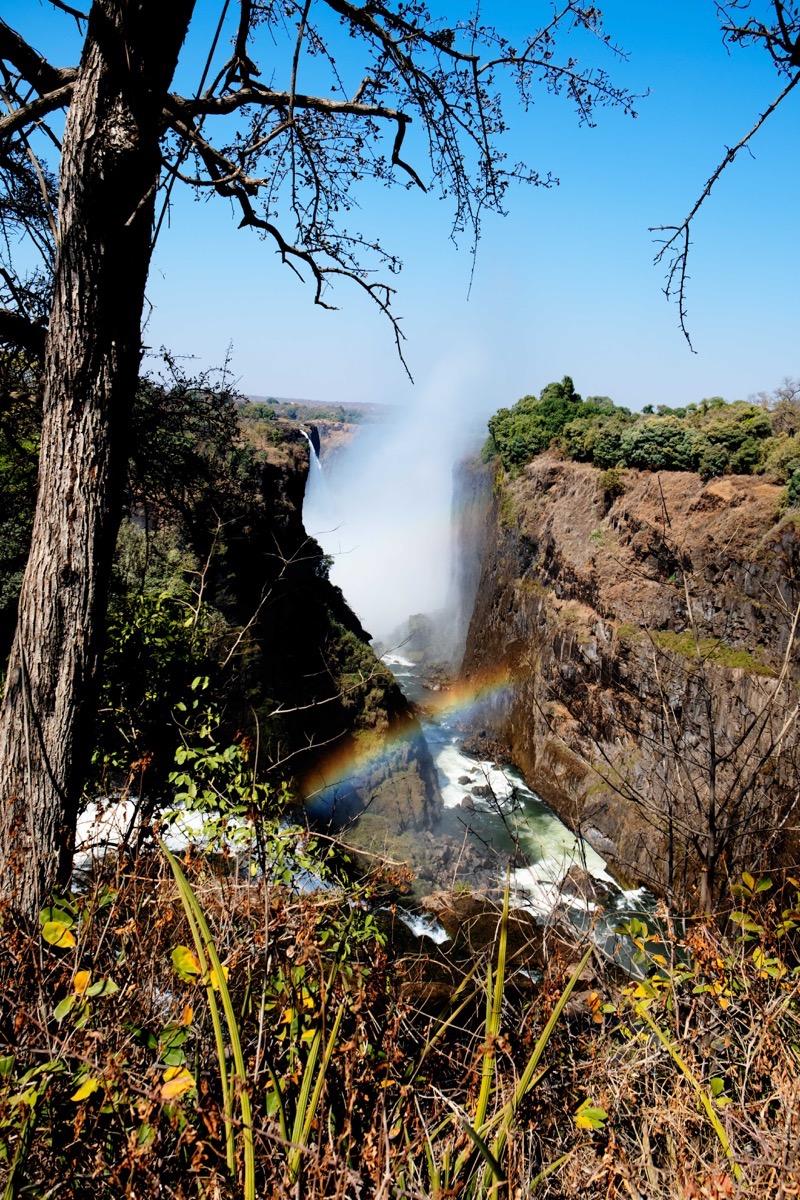 Falls and rainbow 2